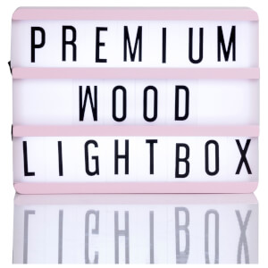 A5 Wood Cinematic Lightbox - Baby Pink