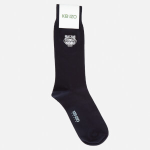 KENZO Men's Tiger Embroidered Socks - Navy
