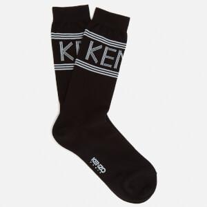 KENZO Men's Sport Jacquard Socks - Black