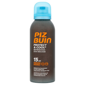Piz Buin Protect & Cool Refreshing Sun Mousse - Medium SPF15 150ml