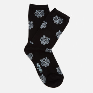 KENZO Women's Multi Tiger Jaquard Socks - Black