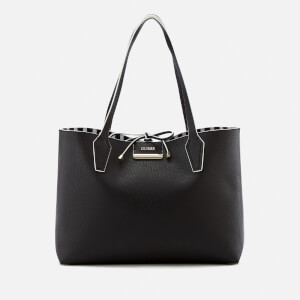 Guess Women's Bobbi Inside Out Tote Bag - Black Stripe