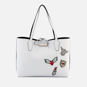 Guess Women's Bobbi Inside Out Tote Bag - White/Black