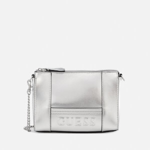 Guess Women's Kamryn Mini Convertible Cross Body Bag - Silver