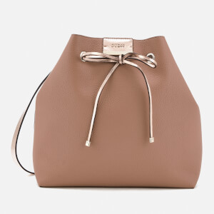 Guess Women's Bobbi Inside Out Drawstring Tote Bag - Latte/Nude
