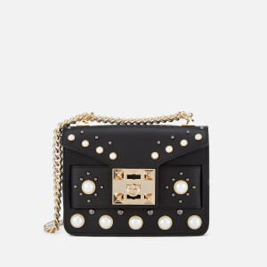 SALAR Women's Mila Pearl Bag - Black