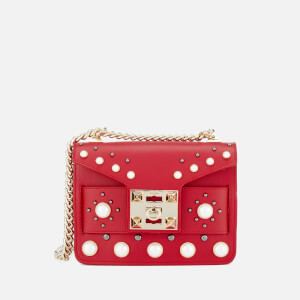 SALAR Women's Mila Pearl Bag - Red