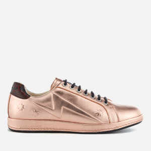 PS Paul Smith Women's Lapin Leather Star Embossed Trainers - Copper Metallic