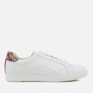 PS by Paul Smith Women's Lapin Leather Star Embossed Trainers - White