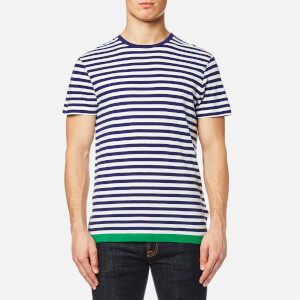 Orlebar Brown Men's Sammy Block Hem T-Shirt - Navy/W/Lawn