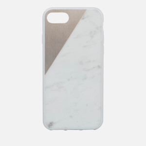Native Union Clic Marble Metal iPhone 7 Case - White/Gold