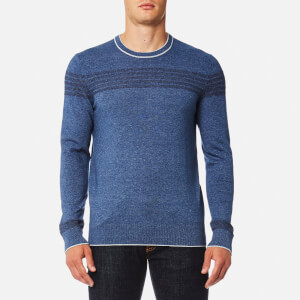 Michael Kors Men's Long Sleeve Chest Stripe Crew Sweatshirt - Denim