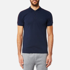 BOSS Green Men's Paule Sleeve Logo Polo Shirt - Navy