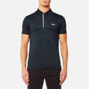BOSS Green Men's Pavotech Sports Polo Shirt - Navy