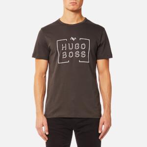 BOSS Green Men's Tee1 Large Logo T-Shirt - Medium Grey