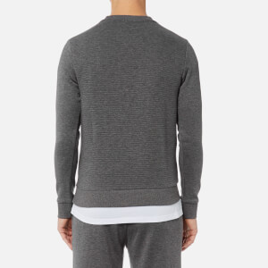 BOSS Green Men's Salbo Large Logo Sweatshirt - Medium Grey: Image 2