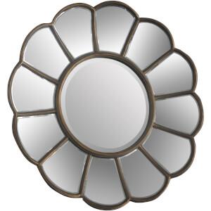 Premier Housewares Verona Floral Wall Mirror - Gold