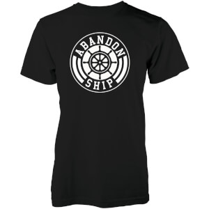 T-Shirt Homme Team Logo Abandon Ship -Noir