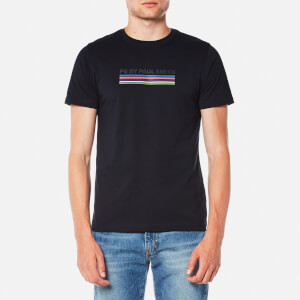 PS by Paul Smith Men's Printed P.S Stripe Slim Fit T-Shirt - Navy