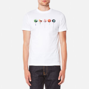 PS by Paul Smith Men's Printed Lollipop Logo Slim Fit T-Shirt - White