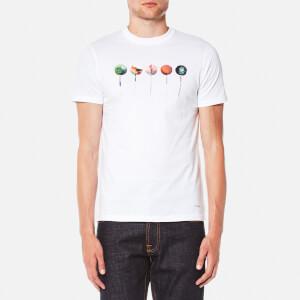 PS by Paul Smith Men's Printed Lollipop Logo Slim Fit T-Shirt - White