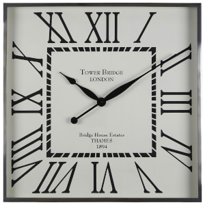 Fifty Five South Kensington Townhouse Wall Clock - White/Black