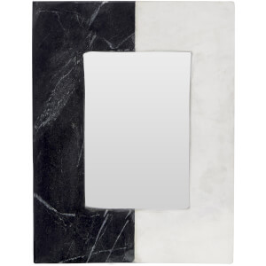 "Fifty Five South Marble Complements Photo Frame - Grey/White 4"" x 6"""
