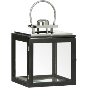 Fifty Five South Regents Square Small Park Lantern - Black