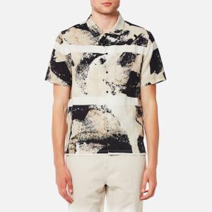 Folk Men's Shadow Print Shirt - Navy Black