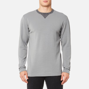 FALKE Ergonomic Sport System Men's Fashion Long Sleeve Performance Top - Grey Heather
