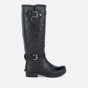 Barbour Women's Lindisfarne Slim Quilted Leg Wellies - Black