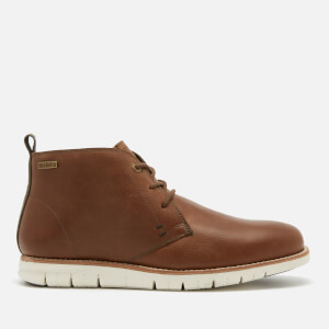 Barbour Men's Shackleton Leather Chukka Boots - Wine