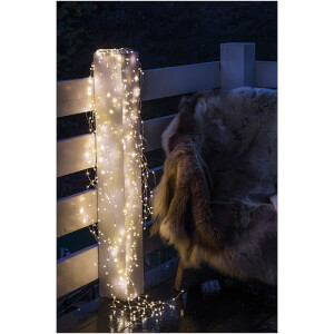 Sirius Knirke Indoor and Outdoor Lights - 350 LED Clear/Silver