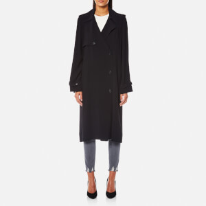Helmut Lang Women's Trench Coat Dress with Satin Belt - Black