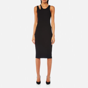 Helmut Lang Women's Slash Rib Dress - Black