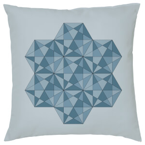 Geometric Star Print Cushion - Navy