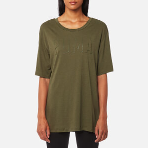Puma Women's Fusion Elongated Short Sleeve T-Shirt - Olive Night
