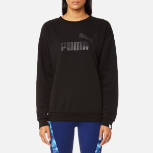 Puma Women's Essential No.1 Crew Sweatshirt - Cotton Black