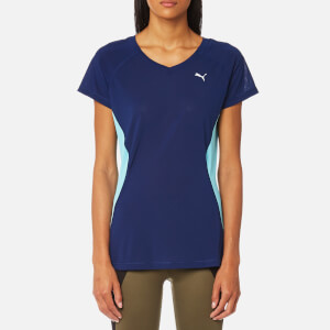 Puma Women's Core Run Short Sleeve T-Shirt - Blue Depths/Turquoise