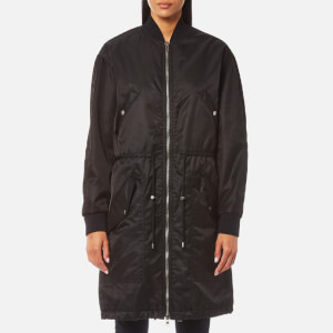 KENZO Women's Nylon Long Bomber Jacket - Black