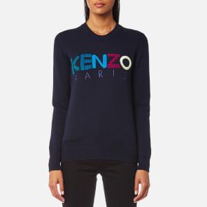 KENZO Women's Kenzo Paris Wool Knitted Jumper - Blue