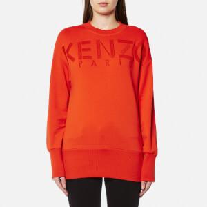 KENZO Women's Embroidery Sweatshirt - Medium Orange