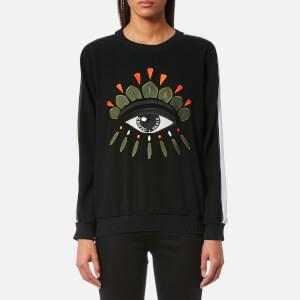 KENZO Women's Soft Eye Embroidery Sweater - Black