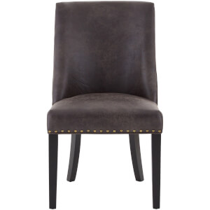Rodeo Dining Chair - Brown Leather Effect