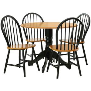 Vermont Oakland Five Piece Dining Set - Natural/Black
