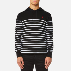 Polo Ralph Lauren Men's Hooded T-Shirt Stripe Hoody - Black/White