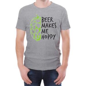 T-Shirt Homme Beer Makes Me Hoppy -Gris