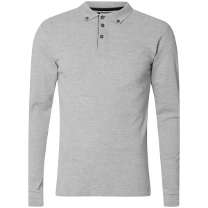 db6fd062be73 Advocate Men's Ralling Long Sleeve Polo Shirt - Light Grey Melange