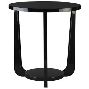 Fifty Five South Side Table - Black High Gloss