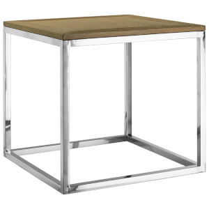 Fifty Five South Hampstead Side Table - Oak Wood/Stainless Steel